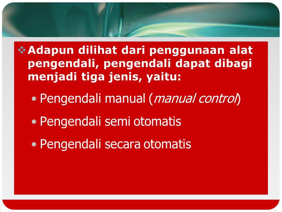 Pengendali motor listrik menurut fungsinya terdiri dari 3 jenis : 1.pengendali saat mulai berjalan (starting) 2.pembalikan arah putaran 3.pengendali p