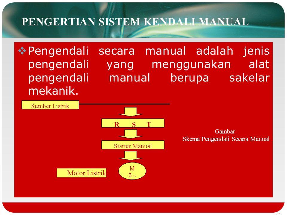  Adapun dilihat dari penggunaan alat pengendali, pengendali dapat dibagi menjadi tiga jenis, yaitu: Pengendali manual (manual control) Pengendali sem