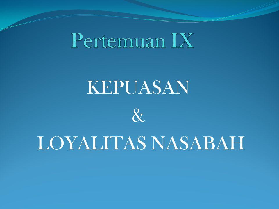 KEPUASAN & LOYALITAS NASABAH