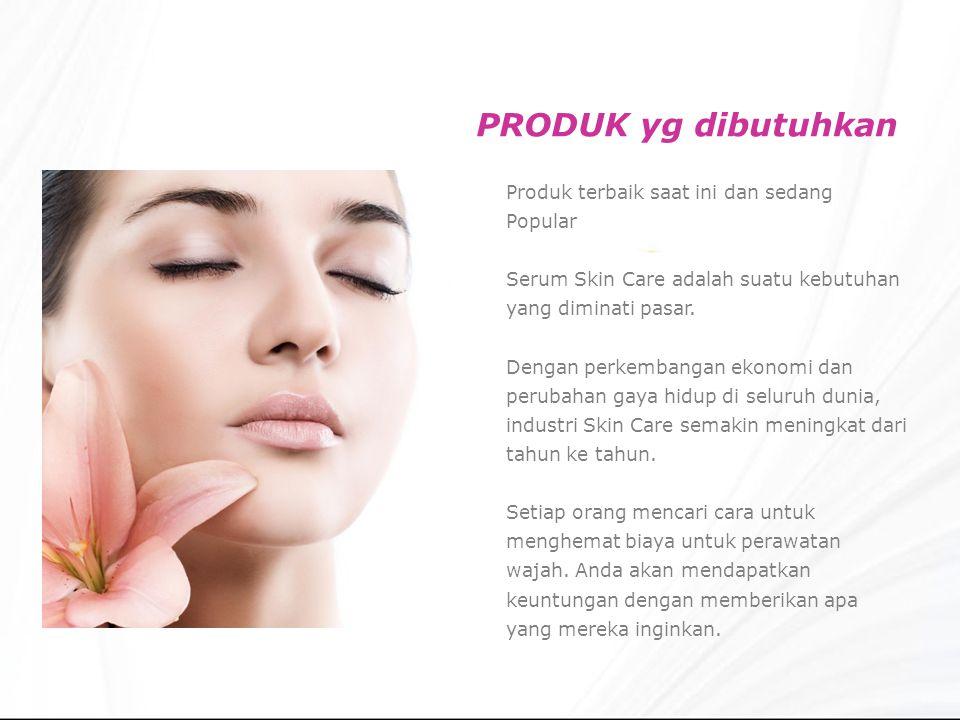 PRODUK yg dibutuhkan Produk terbaik saat ini dan sedang Popular Serum Skin Care adalah suatu kebutuhan yang diminati pasar.