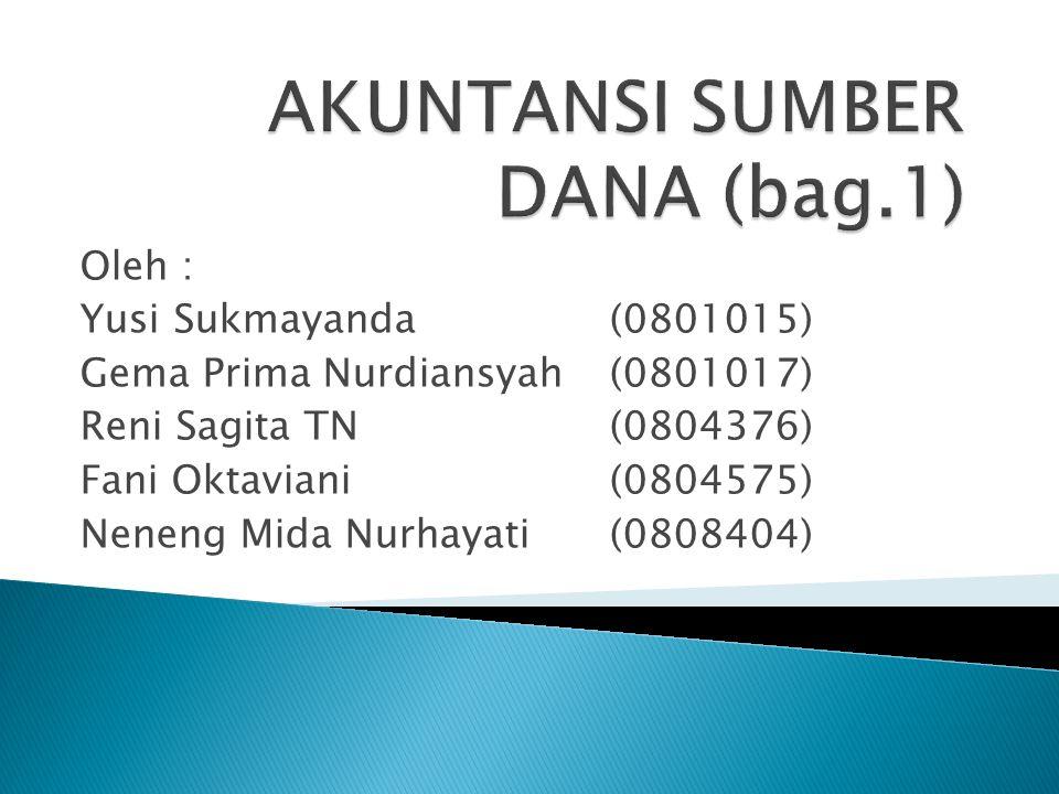 Oleh : Yusi Sukmayanda (0801015) Gema Prima Nurdiansyah(0801017) Reni Sagita TN (0804376) Fani Oktaviani (0804575) Neneng Mida Nurhayati (0808404)