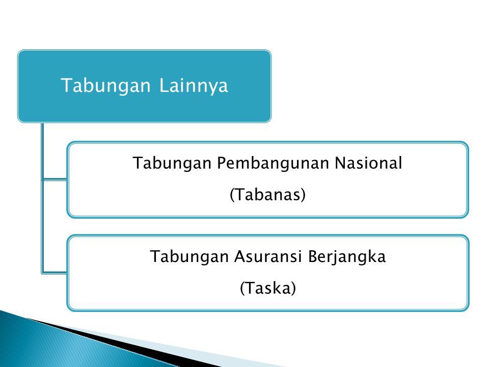 Tabungan Lainnya Tabungan Pembangunan Nasional (Tabanas) Tabungan Asuransi Berjangka (Taska)