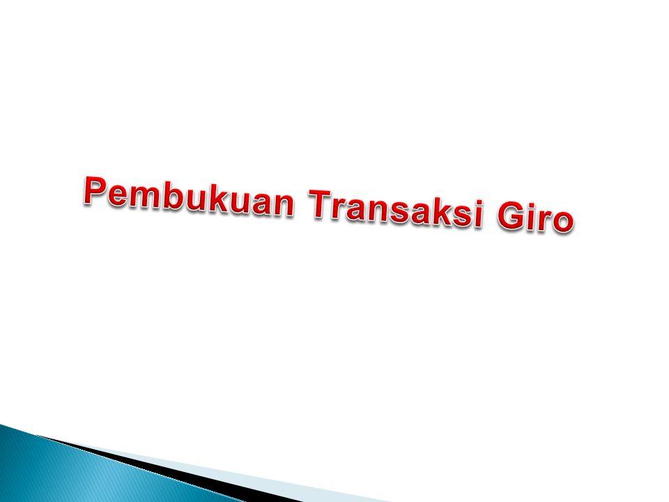 Jurnal soal Tuan Hermawan membuka rekening giro pada bank Omega cabang Jakarta dan menyetor tunai sejumlah Rp 100.000.000 dan membayar tunai semua biaya administrasi seperti penerbitan buku cek sebesar Rp 50.000 D : KASRp 100.050.000 K : Giro-REKENING HERMAWANRp 100.000.000 K : BARANG CETAKAN-BUKU CEKRp 50.000
