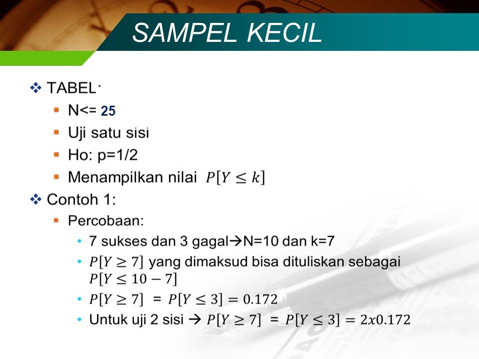 SAMPEL KECIL 25