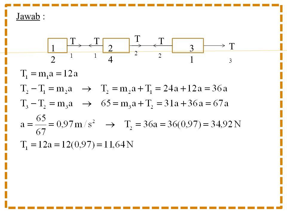 Jawab : T3T3 T2T2 T2T2 T1T1 T1T1 1212 2424 3131