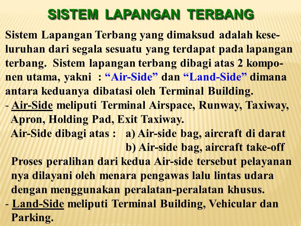 5. Runway length (panjang landasan pacu), panjang runway agar pesawat dapat tinggal landas mempunyai pengaruh besar terhadap luas daerah yang harus di