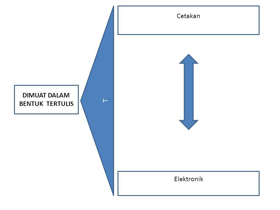 DIMUAT DALAM BENTUK TERTULIS da T Cetakan Elektronik