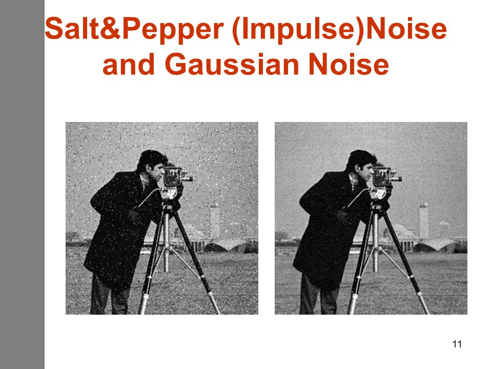 11 Salt&Pepper (Impulse)Noise and Gaussian Noise