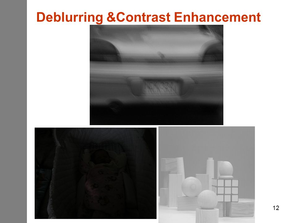 12 Deblurring &Contrast Enhancement