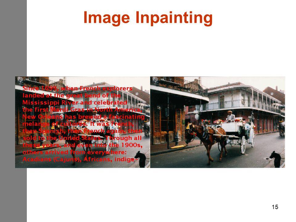 15 Image Inpainting