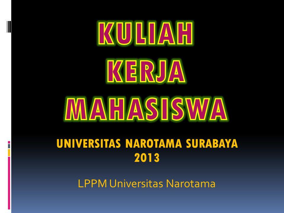 UNIVERSITAS NAROTAMA SURABAYA 2013 LPPM Universitas Narotama