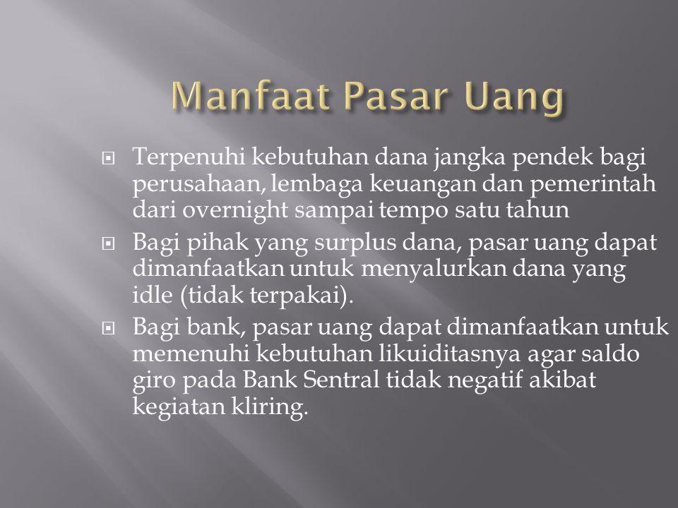 Bank Lembaga Pemerintah Perusahaan Asuransi Yayasan Lembaga Keuangan lainnya (Mis.: Koperasi, Pegadaian ) Perusahaan-perusahaan besar Individu Broker