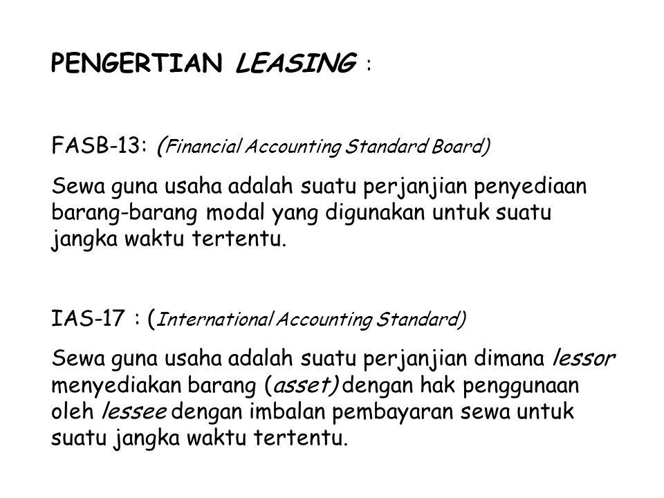 PENGGOLONGAN PERUSAHAAN LEASING 1.