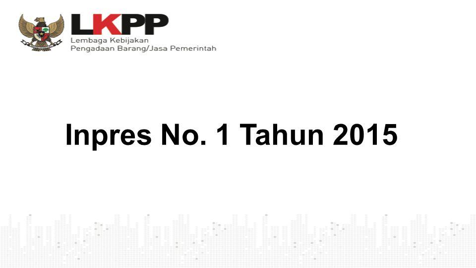 Inpres No. 1 Tahun 2015