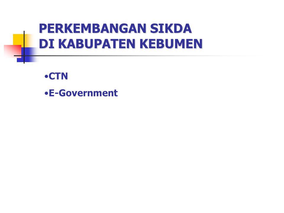 PERKEMBANGAN SIKDA DI KABUPATEN KEBUMEN CTN E-Government