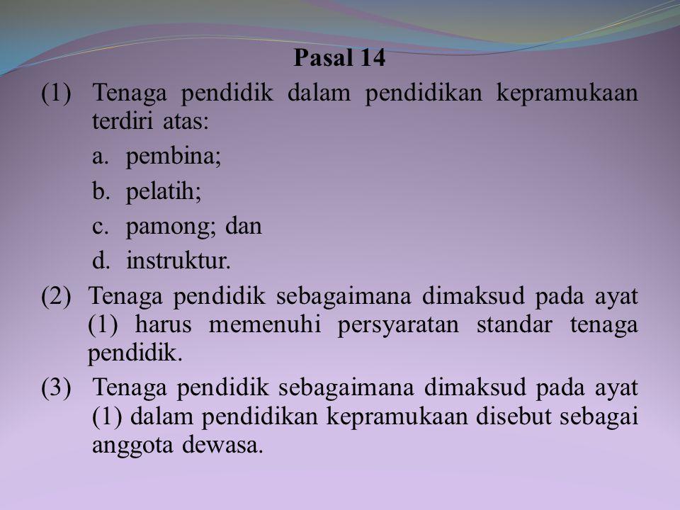 Bagian Ketiga Peserta Didik, Tenaga Pendidik, dan Kurikulum Pasal 13 (1) Setiap warga negara Indonesia yang berusia 7 sampai dengan 25 tahun berhak ik