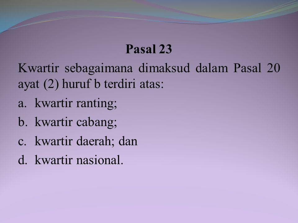 Pasal 21 Gugus depan sebagaimana dimaksud dalam Pasal 20 ayat (2) huruf a meliputi gugus depan berbasis satuan pendidikan dan gugus depan berbasis kom
