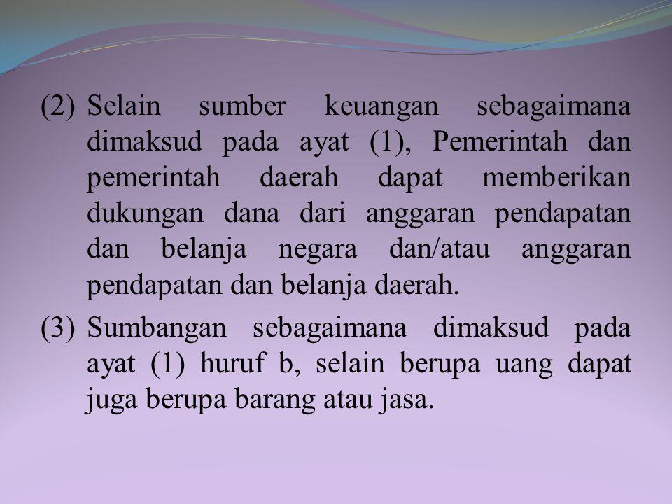 BAB VII KEUANGAN Pasal 43 (1) Keuangan gerakan pramuka diperoleh dari: a. iuran anggota sesuai dengan kemampuan; b. sumbangan masyarakat yang tidak me