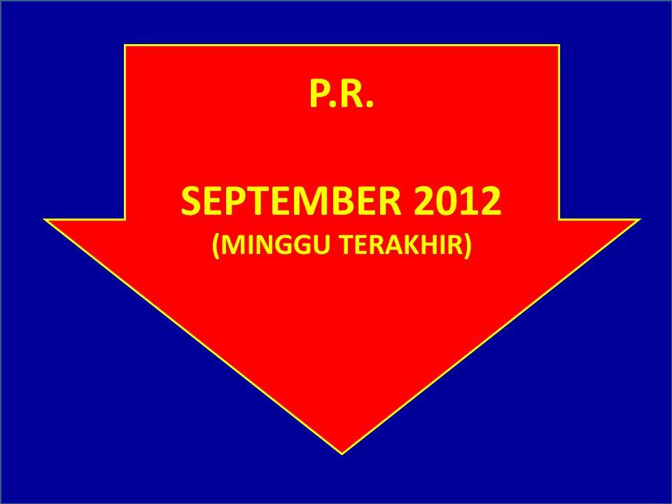 YG DIKUMPULKAN HARI INI : 1. HARD & SOFT COPY RKA-KL T.A. 2013 2. HARD & SOFT COPY TOR, RAB, SPTJM 3. FC SERTIFIKAT BANGFAS 4. HSBGN 5. CLEARENCE DARI