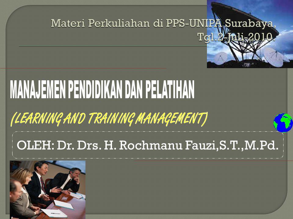 OLEH: Dr. Drs. H. Rochmanu Fauzi,S.T.,M.Pd.