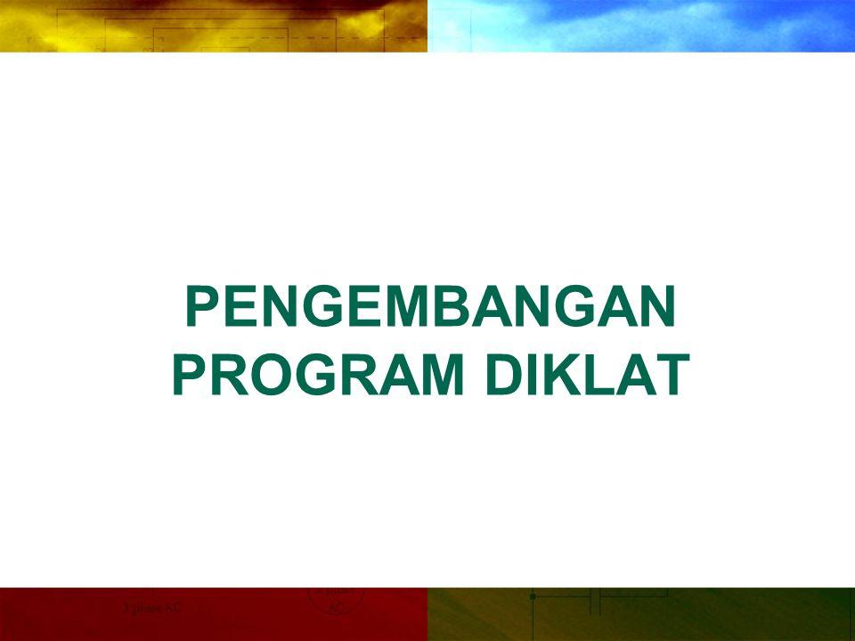 Melalui analisis kebutuhan diklat dapat dilakukan pengembangan program diklat sesuai dengan kebutuhan organisasi, jabatan, maupun individual.