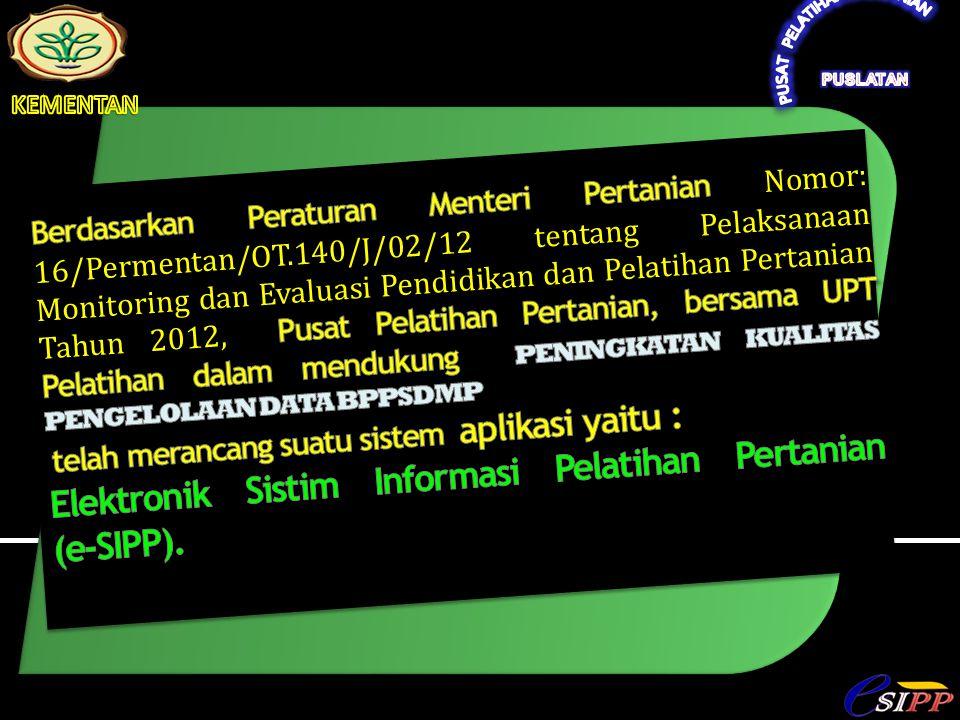 2012 Aplikasi esipp versi baru dan website:puslatan.