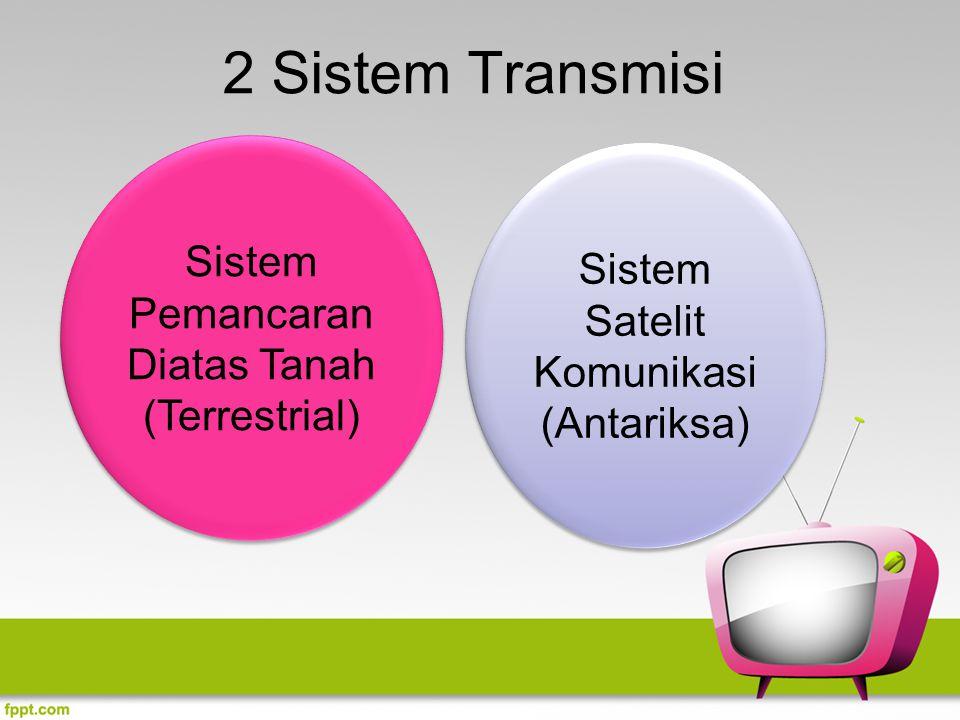 2 Sistem Transmisi Sistem Pemancaran Diatas Tanah (Terrestrial) Sistem Satelit Komunikasi (Antariksa)