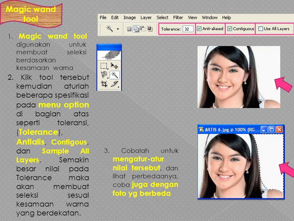 1.FREE TRANSFORM biasanya digunakan untuk mengatur ukuran seleksi suatu gambar secara bebas.