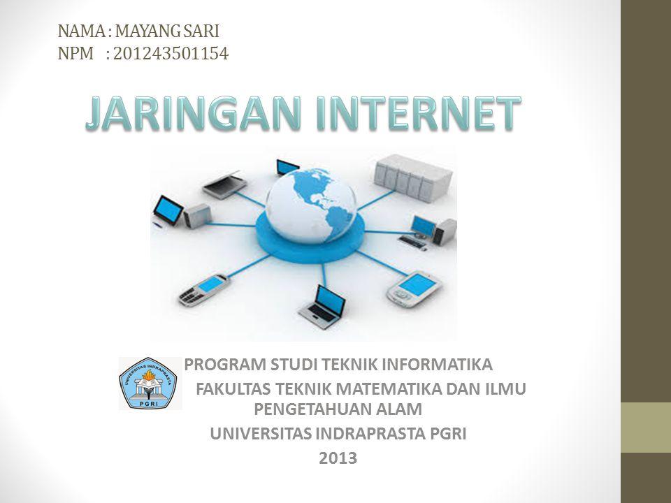 A.Pengertian Jaringan Internet.