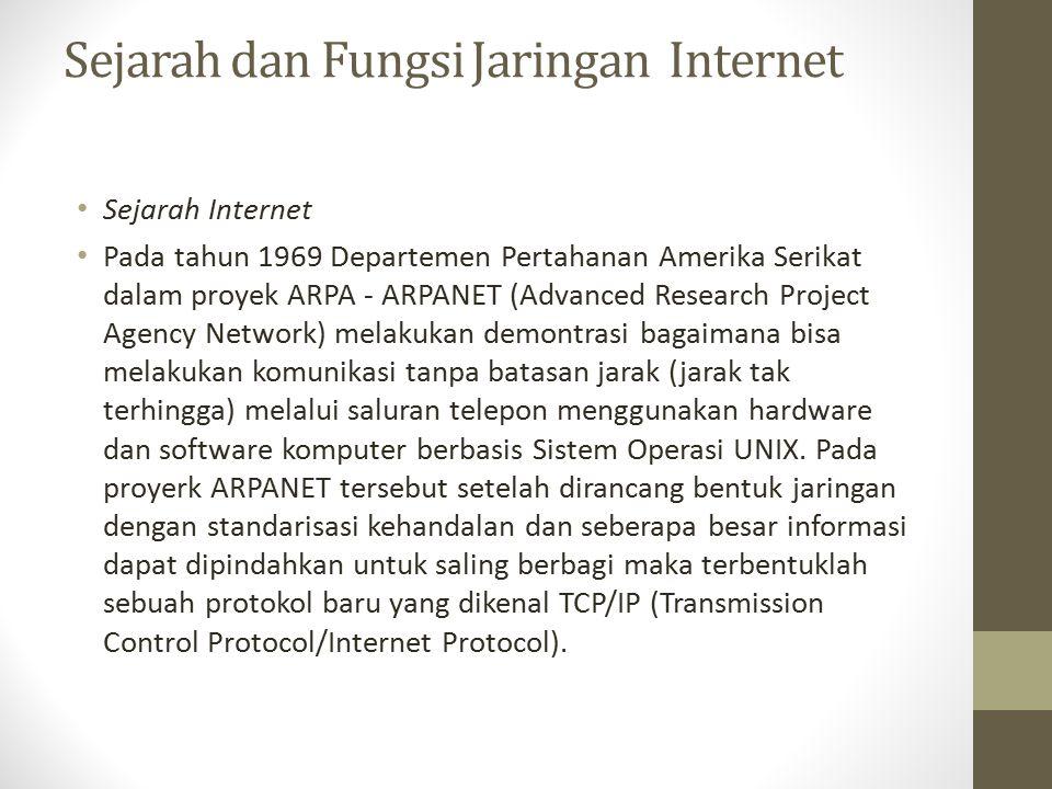 Jenis-jenis jariangan internet Internet Sebenarnya terdapat banyak jaringan didunia ini, seringkali menggunakan perangkat keras dan perangkat lunak yang berbeda-beda.