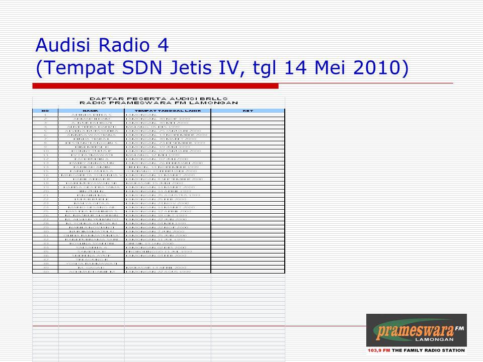 Audisi Radio 4 (Tempat SDN Jetis IV, tgl 14 Mei 2010) Logo Radio