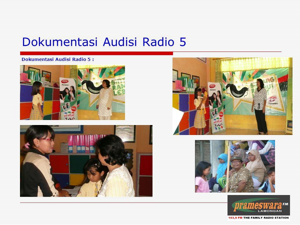 Dokumentasi Audisi Radio 5 Dokumentasi Audisi Radio 5 : Logo Radio