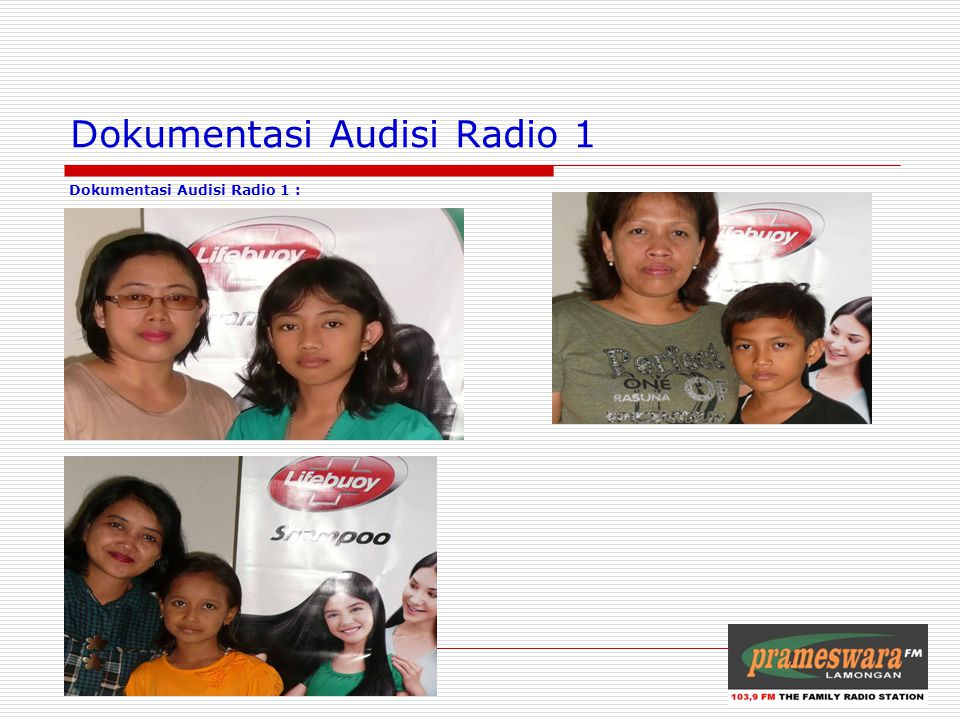 Dokumentasi Audisi Radio 1 Dokumentasi Audisi Radio 1 : Logo Radio