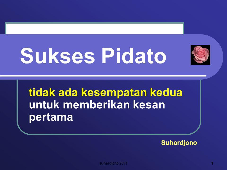 Sukses Pidato tidak ada kesempatan kedua untuk memberikan kesan pertama Suhardjono 1 suhardjono 2011