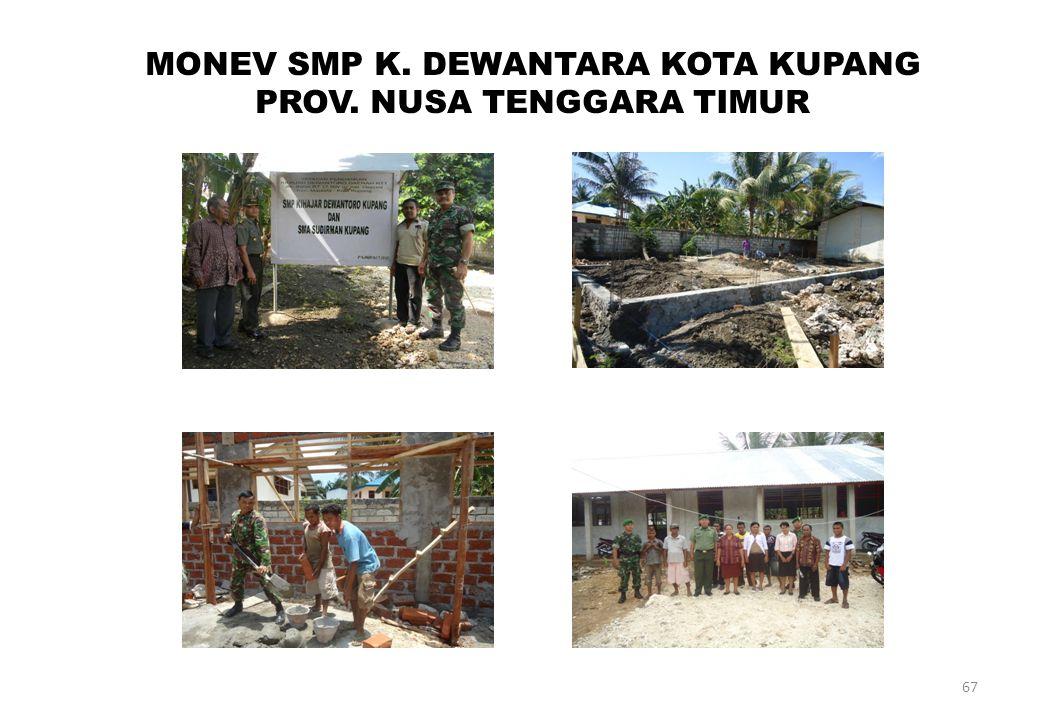 67 MONEV SMP K. DEWANTARA KOTA KUPANG PROV. NUSA TENGGARA TIMUR