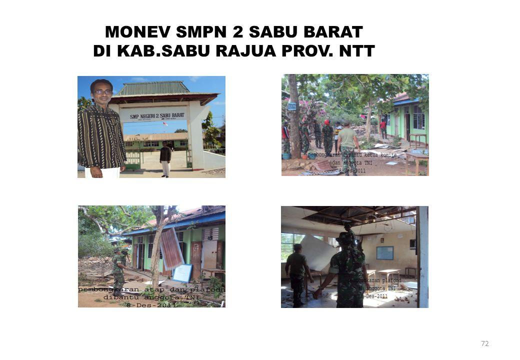 72 MONEV SMPN 2 SABU BARAT DI KAB.SABU RAJUA PROV. NTT