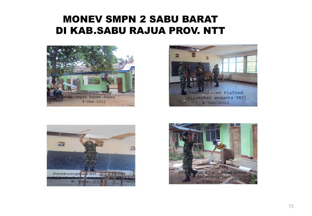 73 MONEV SMPN 2 SABU BARAT DI KAB.SABU RAJUA PROV. NTT