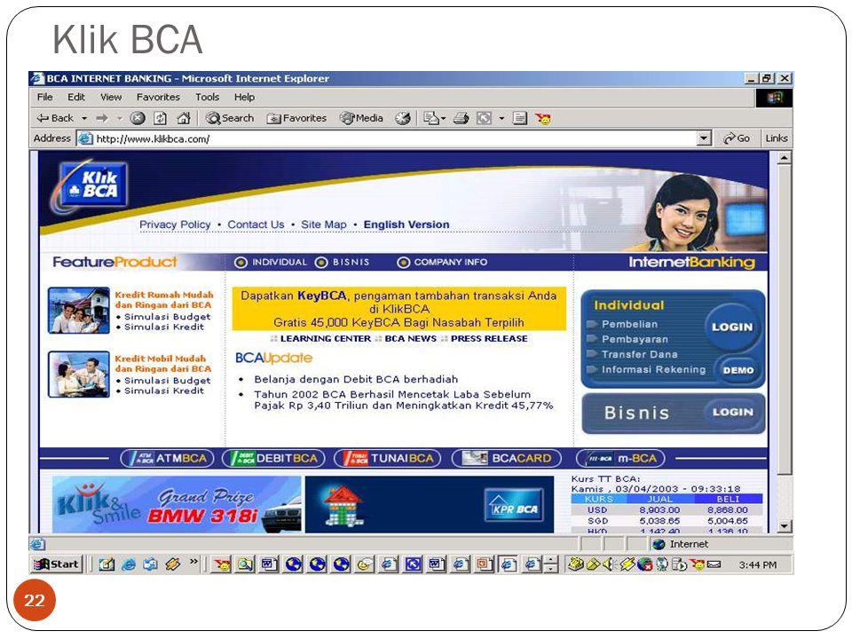 Klik BCA 22