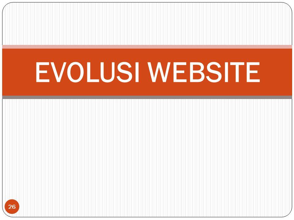 26 EVOLUSI WEBSITE