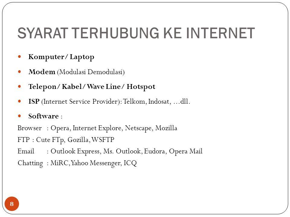 9 ISP (Internet Service Provider) INTERNET
