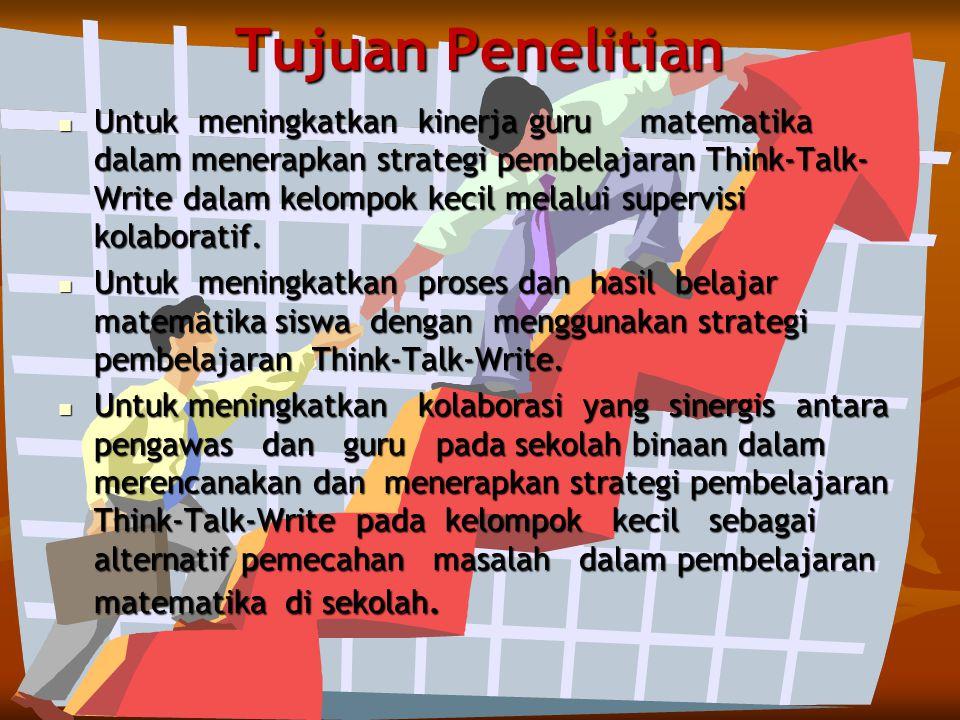 1. Bimbingan supervisi kolaboratif terhadap guru matematika di SMA binaan di Kabupaten Dompu dapat meningkatkan kemampuan menerapkan strategi Think-Ta