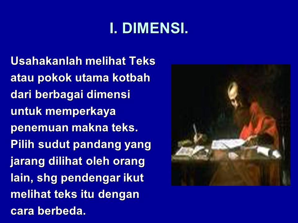 I. DIMENSI.