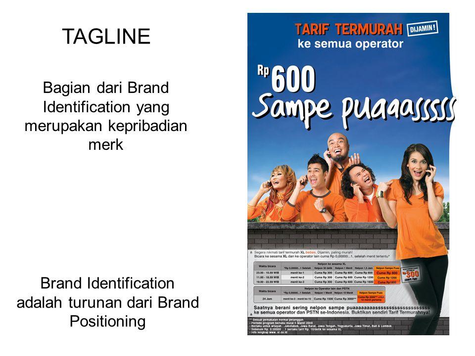 Bagian dari Brand Identification yang merupakan kepribadian merk TAGLINE Brand Identification adalah turunan dari Brand Positioning