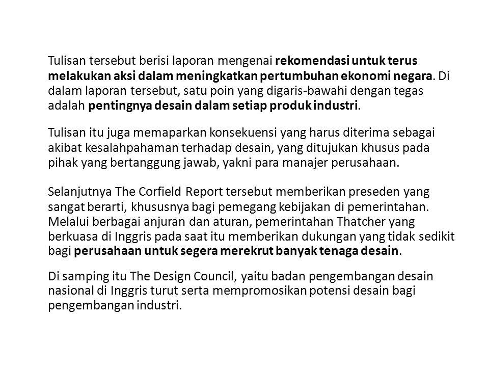 Tulisan tersebut berisi laporan mengenai rekomendasi untuk terus melakukan aksi dalam meningkatkan pertumbuhan ekonomi negara.