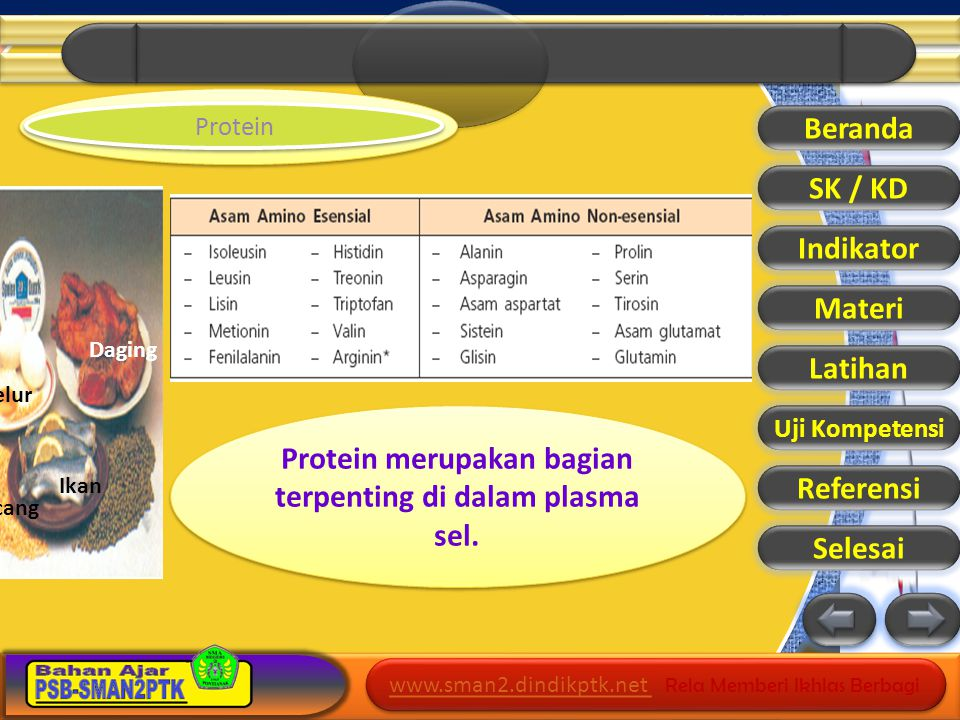 www.sman2.dindikptk.net www.sman2.dindikptk.net Rela Memberi Ikhlas Berbagi www.sman2.dindikptk.net www.sman2.dindikptk.net Rela Memberi Ikhlas Berbagi Beranda SK / KD Indikator Materi Latihan Uji Kompetensi Referensi Selesai Lemak Bahan makanan yang mengandung lemak.