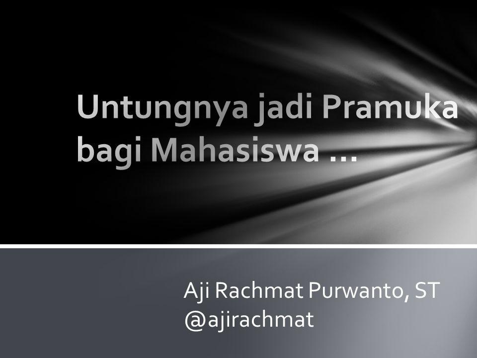 Aji Rachmat Purwanto, ST @ajirachmat
