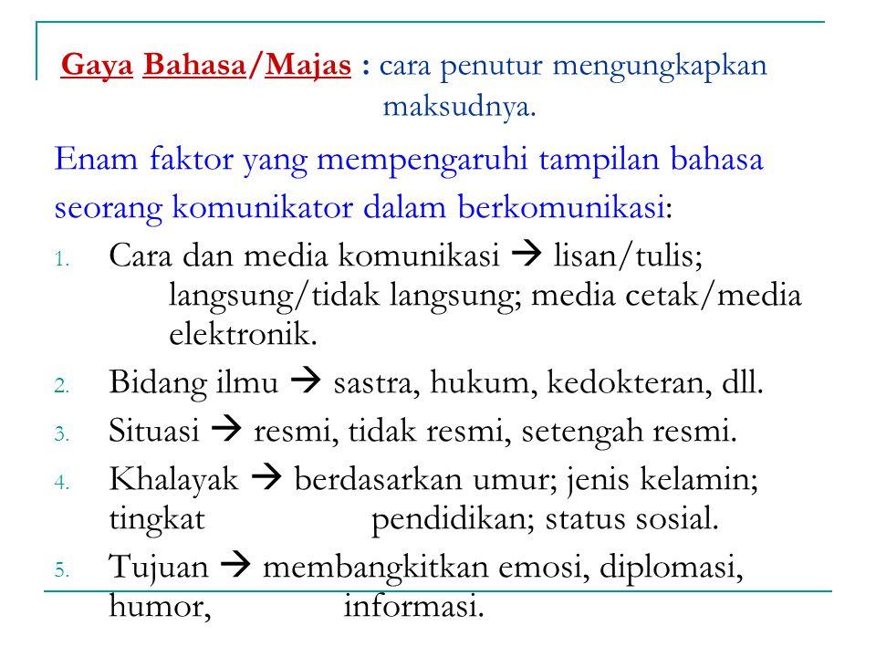 Contoh:  Baik dosen ataupun mahasiswa ikut memperjuangkan reformasi. (salah)  Baik dosen maupun mahasiswa ikut memperjuangkan reformasi. 6. Dapat me