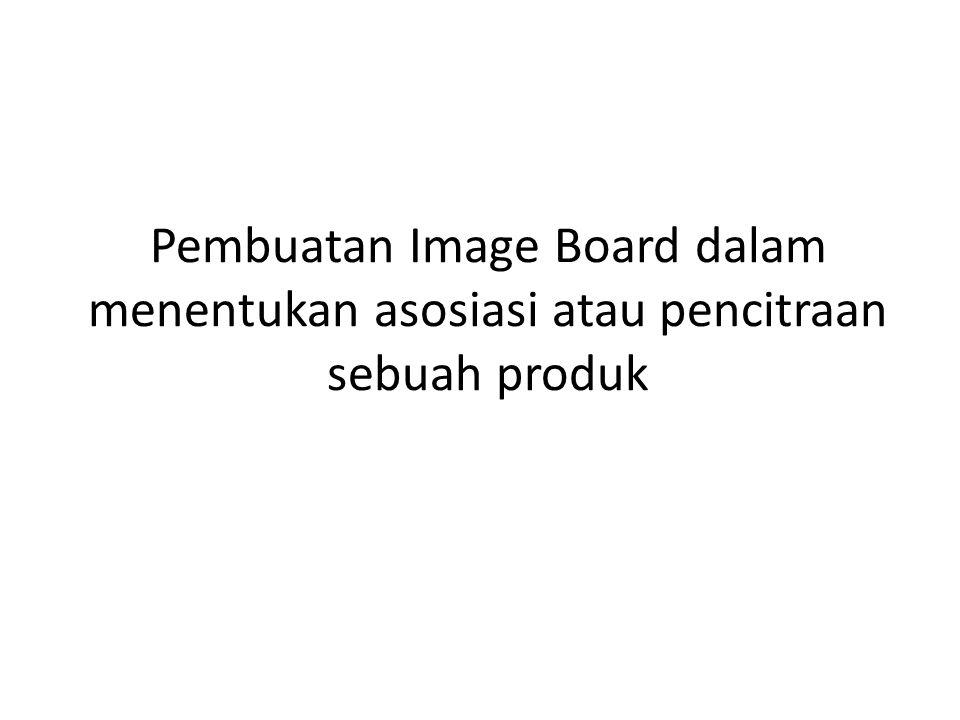 Pembuatan Image Board dalam menentukan asosiasi atau pencitraan sebuah produk
