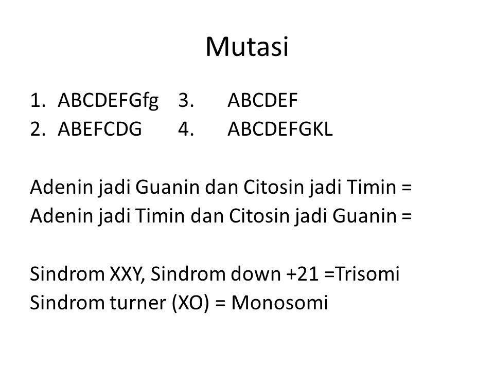 Mutasi 1.ABCDEFGfg3.