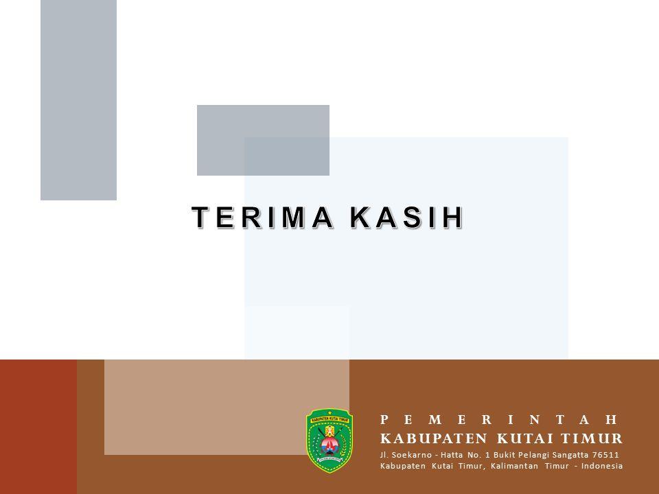 PEMERINTAH KABUPATEN KUTAI TIMUR Jl.Soekarno - Hatta No.